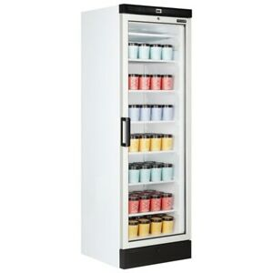 UPRIGHT GLASS DOOR SHOP DISPLAY FREEZER TEFCOLD UFFS370G FREE NEXT DAY DELIVERY