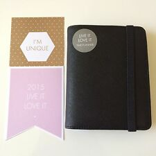 BN kikki-k 2015 LEATHER TIME PLANNER SMALL: BLACK