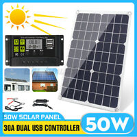 50W Solarpanel Solarmodul Solarzelle 12V 24V Solar Polykristallin 30A !