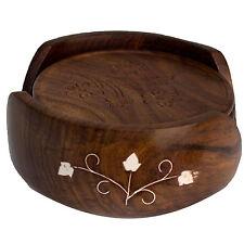 Runde Tischuntersetzer aus Holz