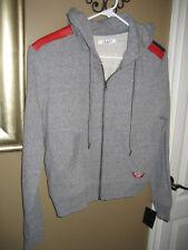 NUYU WONDER WOMAN COLLECTION gray hoodie sweatshirt size S NWT