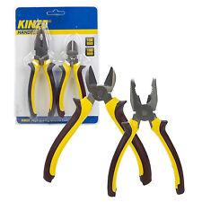 2pc Set Pinze combinazione & diagonale Cutter Strumento fai da te Pinza Comfort Grip Kinzo