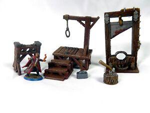 Hangman platform and executioners terrain set (D&D, Warhammer, tabletop terrain)