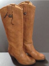 Frye Leather rugged Cognac knee high Boots 76575 Womens Size 6 B