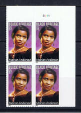 US, Sc # 3896 ~ Plate Block of 4 ~ 37 cent Marian Anderson MNH