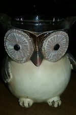 Yankee Candle Owl Votive Holder Rustic Decoration Collectible 7 Tealights home