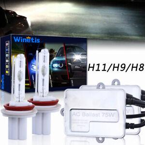 75W 2x WINETIS HID Conversion kit Headlight Low Beam Bulbs H11 H16 H9 5000K