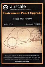 Airscale Decals 1/24 FOCKE WULF Fw-190 INSTRUMENT PANEL UPGRADE PE & Decals