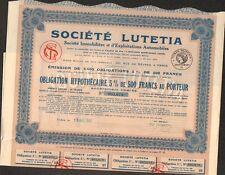 Société LUTETIA, Automobiles (M)