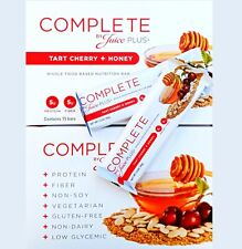 80 COMPLETE BY JUICE PLUS+ WHOLE FOOD BAR SNACK - TART CHERRY + HONEY NEW 05/20