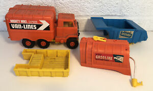 Remco Mighty Mike Action Traction Truck W Gasoline Dump Van Lines Power Set
