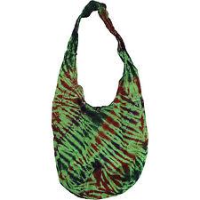 Bohemian Tie Dye Green Sling Handbag Purse Ladies Women Men Kid Boy Girl Child