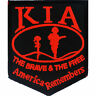 KIA AMERICA REMEMBERS THE BRAVE & THE FREE  Embroidered Patch (3166)