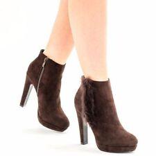 Faux Suede Upper No Pattern Clubwear Block Heels for Women