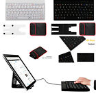 Portable Mini USB Keyboard For Android Windows Tablet + Tablet PC Stand