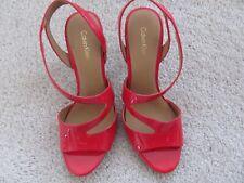 Calvin Klein Niobe heels 8M Lipstick Red new w/defect