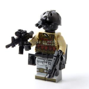 LEGO kompatibler SWAT Soldat mit Nachtsichtgeät und mehreren Gewehren