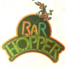 VINTAGE BAR HOPPER T-SHIRT IRON-ON FUNNY BEER BAR LIQUOR HEAT TRANSFER GLITTER