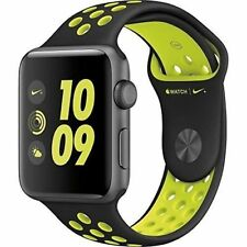 Apple Watch Nike + 38MM Black/Volt Sport band - Space Gray - NEW- MP082LL/A