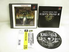 PS1 KING'S FIELD III 3 The Best with SPINE Card * Playstation Japan Game p1