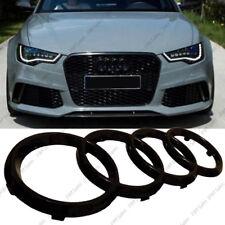 New Black Gloss Front Grille Badge Ring Logo Emblem Audi A6 Q3 Q5 Q7 285x99mm