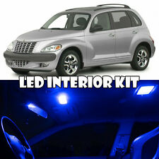 01-10 Chrysler PT Cruiser BLUE Interior LED Light Bulb Full Kit + Mirror Vanity