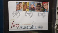 2000 AUSTRALIAN ALPHA STAMP ISSUE FDC, FACE OF AUSTRALIA STRIP OF 5 STAMPS 5