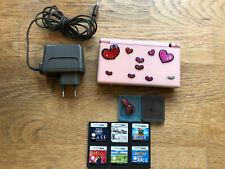 Nintendo DS Lite Rose Handheld-Spielkonsole mit 6 Spielen