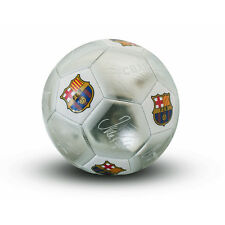 FC BARCELONA FCB SILVER SIGNATURE MINI FOOTBALL SIZE 1 KIDS NEW XMAS GIFT