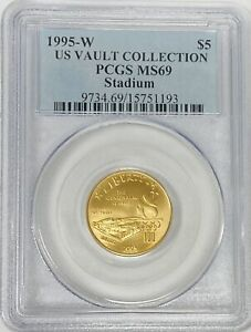 1995-W $5 US Vault Collection Olympic Stadium Five Dollars PCGS MS69
