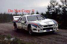 Henri Toivonen MARTINI LANCIA 037 RALLY 1000 LAGHI 1985 fotografia 1
