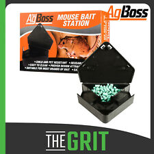 AgBoss Mouse Mice Corner Bait Station Plastic Trap Lockable Key Indoor Outdoor
