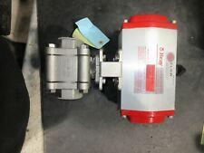 Bray Controls 93-0934-11300-532 Double Acting Pneumatic Actuator W/ FLOWTEK CF8M