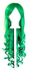 29'' Long Curly w/ Long Bangs Jade Green Cosplay Wig NEW