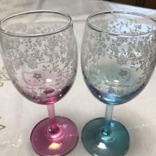 Hello Kitty /& Kerokeroppi 1993 wine glass set glass made in Japan Sanrio F//S