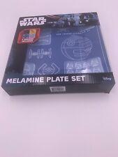 "Star Wars Blueprint Melamine 8"" Plate Set NEW"