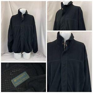 Descente Golf Jacket XL Black Fleece Full Zip Poly No Flaws YGI T1-44