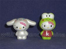 2 Pcs Hello Kitty Figure Desk Charm Decoration Frog KEROKERO KEROPPI Cinnamoroll
