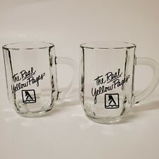 Vintage The Real Yellow Pages Glass Mugs Set of 2