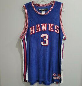 Reebok HWC Atlanta Hawks Shareef Abdur-Rahim 3 D'funkd 1955 Throwback Jersey L