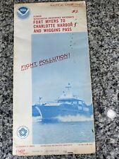 Vtg 1975 FL Ft Myers Charlotte Harbor Nautical Chart 11427 Map 13th Ed. NOAA