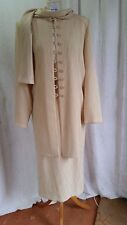 Ladies Vivienne Lawrence 3 Piece Skirt Suit Size 14 in a Creamie Beige