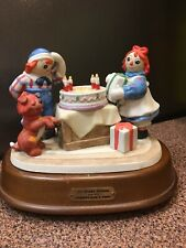 """Raggedy Ann And Andy """"Happy 70th"""" Celebration by Flambro with Box"""