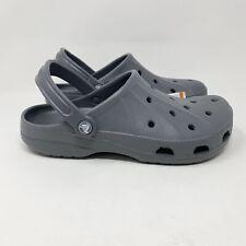 Crocs Men's 8 Ralen Clog Sandals Slingback Graphite Gray NWT Women's 10