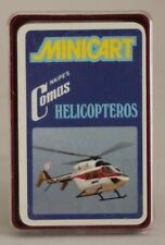 1974 Naipes Comas cards - HELICOPTERS - Spanish FULL mini deck (24 cards)