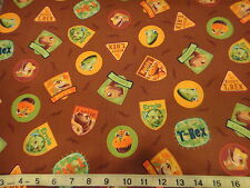 Dinosaur Train Cotton Fabric Dinosaur Train Hide & Seek w/ Buddy Patch BROWN