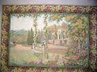 Wall hanging Lake Como Garden Italian Tapestry 39 x 53
