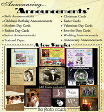 Digital Announcements All Occasion Invitations Textured Paper Photo Backdrops N1