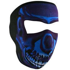 Zan Headgear Neoprene Full-Face Mask, Blue Chrome Skull