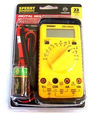 SPERRY INSTRUMENTS DIGITAL MULTIMETER DM-4400A 8 FUNCTIONS 23 RANGES HDM4400